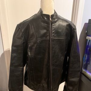 Old Navy Collection Leather Motorcycle Jacket XL